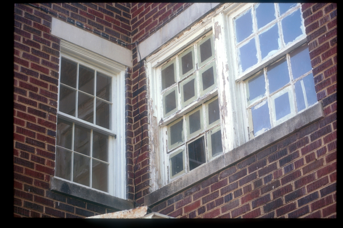 Divided Lite Wood Window Restoration Before and After, NE DC 1928